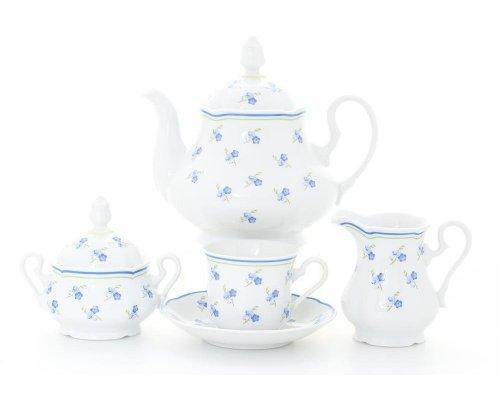 """Сервиз чайный Leander Мэри-Энн """"Синие цветы"""" на 6 персон 15 предметов"""