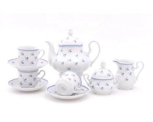 """Сервиз чайный Leander Мэри-Энн """"Синие цветы"""" на 12 персон 27 предметов"""