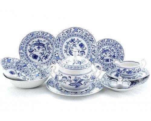"""Чайно-столовый сервиз Leander Мэри-Энн """"Луковый рисунок"""" на 6 персон 40 предметов"""