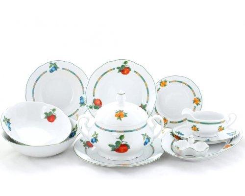 """Чайно-столовый сервиз Leander Мэри-Энн """"Фруктовый сад"""" на 6 персон 40 предметов"""