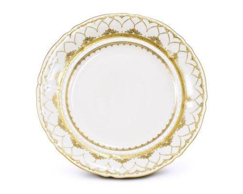 Блюдо круглое мелкое 32см Соната Золотое кружево Leander