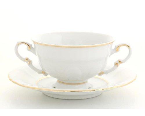 "Чашка для супа с блюдцем Leander ""Соната 1139"" 0,35л"