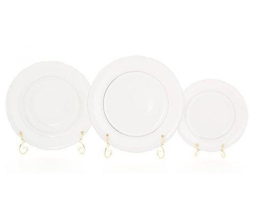 Набор тарелок Leander Соната 1138 отводка платина на 6 персон 18 предметов