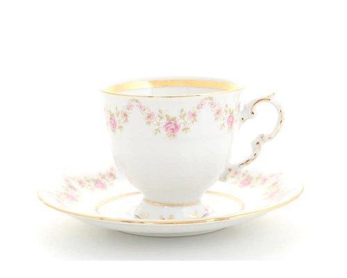 Набор чайных пар Leander Соната Мелкие цветы 6 персон 0.15 л