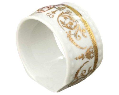 """Кольцо для салфеток большое Leander Соната """"Золотые узоры"""""""