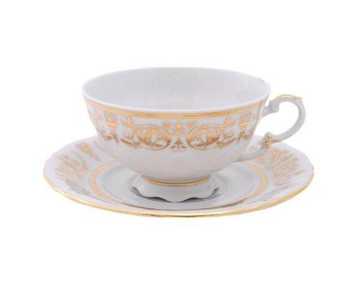 "Набор из двух чайных пар Leander Соната ""Золотые узоры"" 0.20 л"