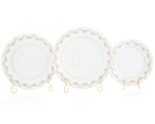 "Набор тарелок Leander Соната ""Мелкие цветы"" на 6 персон 18 предметов (19+23+25см)"