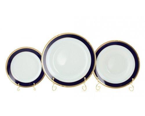 """Набор тарелок Leander """"Сабина 0767"""" на 6 персон 18 предметов (19+23+25см)"""
