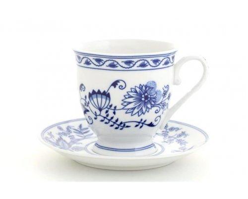 """Чашка высокая с блюдцем Leander Мэри-Энн """"Луковый рисунок"""" 0,3 л"""