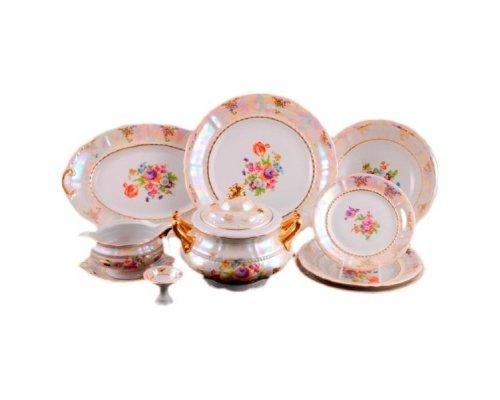 """Чайно-столовый сервиз Leander Соната """"Перламутр цветы"""" 6 персон 40 предметов"""