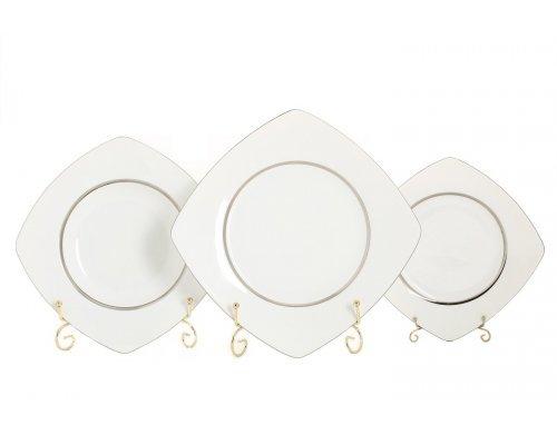 "Набор тарелок Leander ""Бьянка 0011"" на 6 персон 18 предметов (19+23+25см)"