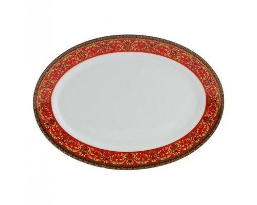 """Блюдо для гарнира овальное Leander Сабина """"Красная лента"""" 22см"""