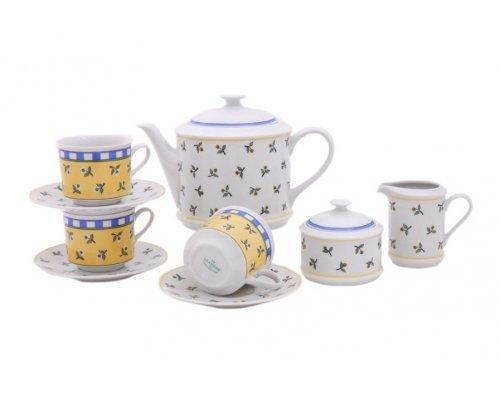 """Сервиз чайный Leander """"Сабина 0317"""" на 6 персон 15 предметов"""