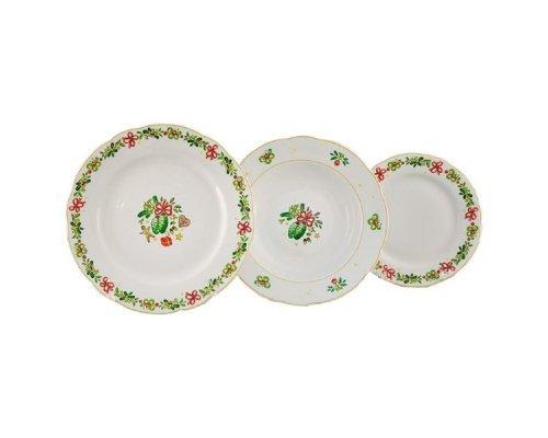 "Набор тарелок Leander Мэри-Энн ""Шишки"" на 6 персон 18 предметов (19+23+25см)"