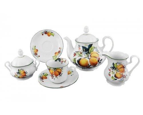 """Сервиз чайный Leander """"Мэри-Энн 2409"""" на 6 персон 15 предметов"""