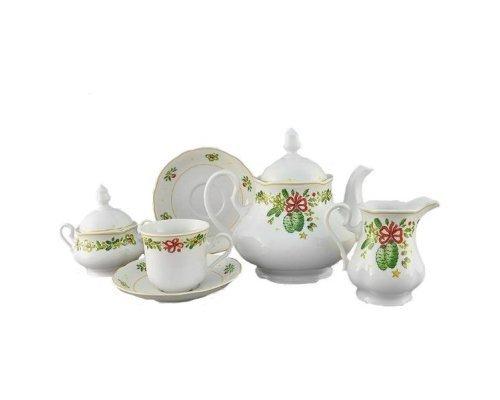"""Сервиз чайный Leander Мэри-Энн """"Шишки"""" на 6 персон 15 предметов"""