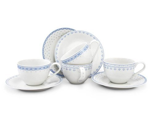 Набор чайных пар Голубой рисунок HyggeLine Leander 4 шт.