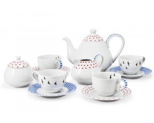 Чайный сервиз на 4 персоны 11 предметов BeFree Leander