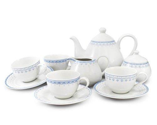 Чайный сервиз на 4 персоны 11 предметов Голубой рисунок HyggeLine Leander