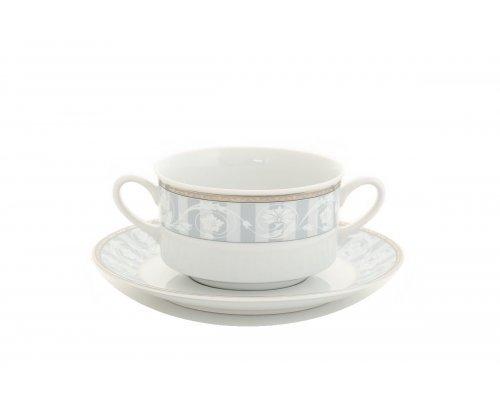 """Набор чашек для супа с блюдцами Leander """"Сабина 1013"""" 6 персон 0,30л"""