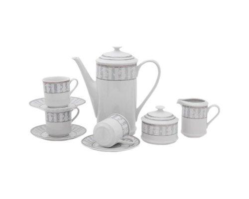"""Сервиз кофейный Leander """"Сабина 1013"""" на 6 персон 15 предметов, чашки 0,15л"""