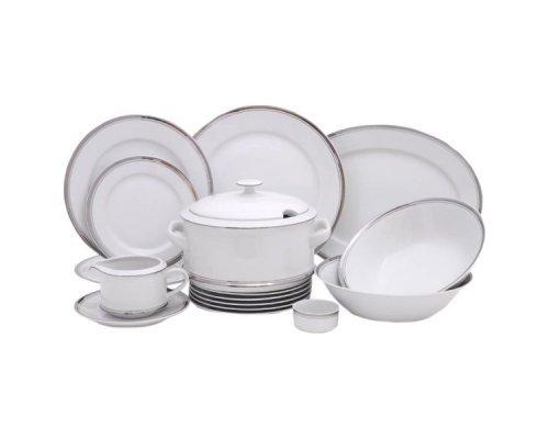 Чайно-столовый сервиз Leander Сабина Отводка платина на 6 персон 40 предметов