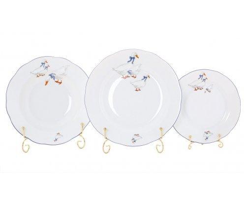 "Набор тарелок Leander Мэри-Энн ""Гуси"" 18 предметов (19+23+25см)"