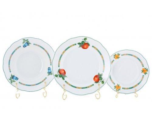 """Набор тарелок Leander Мэри-Энн """"Фруктовый сад"""" на 6 персон 18 предметов (19+23+25см)"""