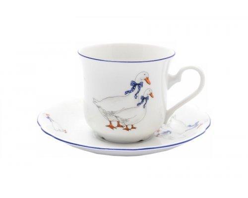 """Набор из двух чайных пар Leander Мэри-Энн """"Гуси"""" 0.20 л"""
