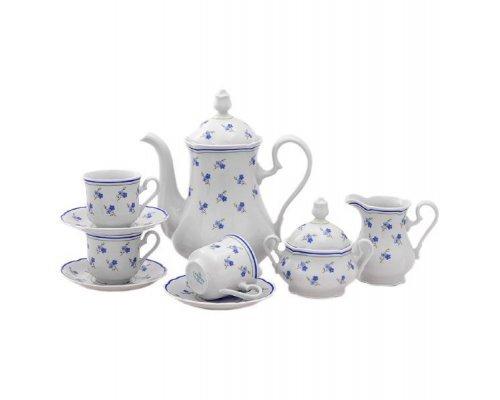 """Сервиз кофейный Leander Мэри-Энн """"Синие цветы"""" на 6 персон 7 предметов, чашки 0,15 л"""