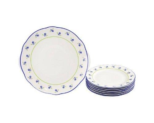 """Сервиз для торта Leander Мэри-Энн """"Синие цветы"""" на 6 персон 7 предметов 19см"""