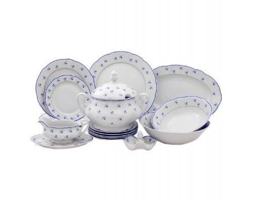 """Чайно-столовый сервиз Leander Мэри-Энн """"Синие цветы"""" на 6 персон 40 предметов"""