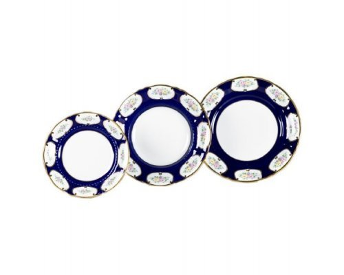 "Набор тарелок Leander Соната ""Кобальт 0419"" на 6 персон 18 предметов (19+23+25см)"