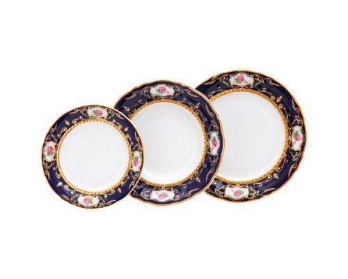 "Набор тарелок Leander Соната ""Кобальт 0440"" на 6 персон 18 предметов (19+23+25см)"