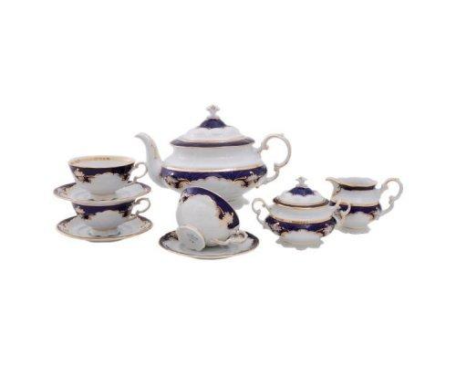 """Сервиз чайный Leander Соната """"Кобальт"""" на 12 персон 27 предметов"""