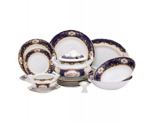 """Чайно-столовый сервиз Leander Соната """"Кобальт 0440"""" на 6 персон 40 предметов"""