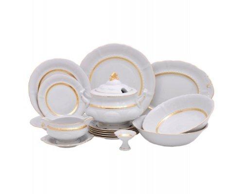 "Чайно-столовый сервиз Leander ""Соната 1239"" Золотая лента на 6 персон 40 предметов"