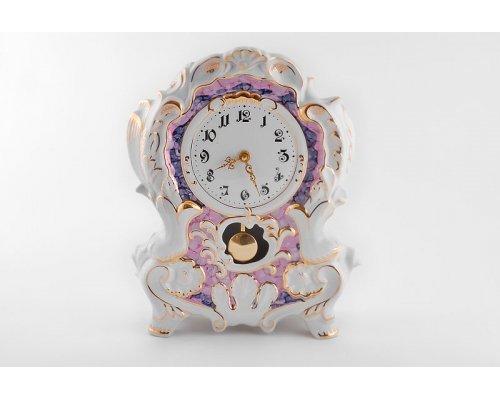 Часы каминные Leander фиолетовые 32см