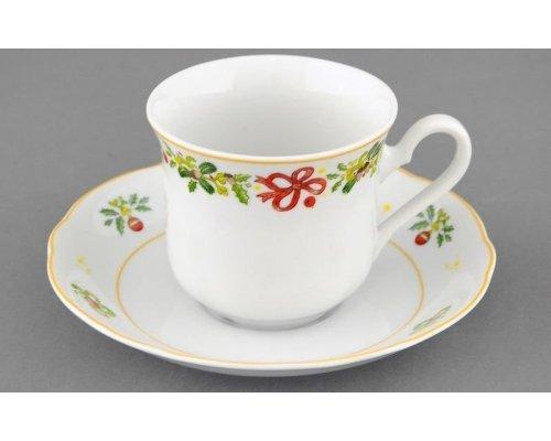 """Чашка высокая с блюдцем Leander Мэри-Энн """"Шишки"""" 0,20л"""