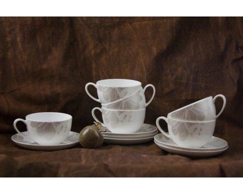 Набор чайных пар Магнолия на 6 персон