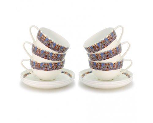 Набор чайных пар Тамерлан на 6 персон