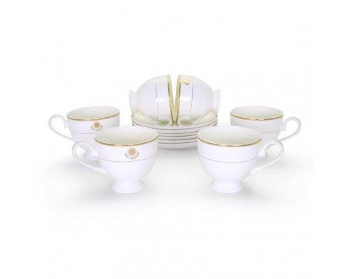 Набор чайных пар Казахстан Акку на 6 персон 12 предметов 220 мл