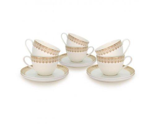 Набор чайных пар Акку на 6 персон