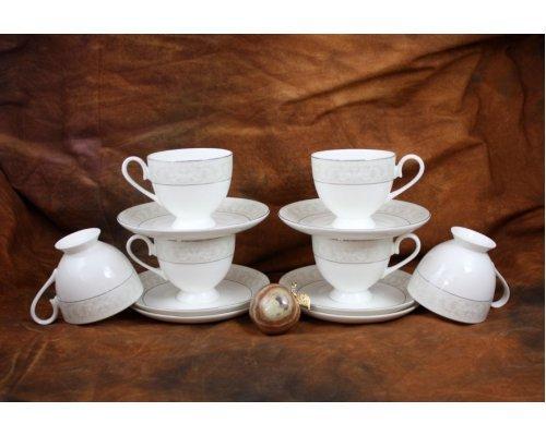 Набор чайных пар Ариадна на 6 персон