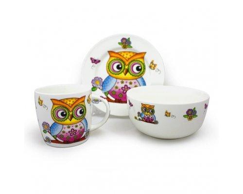 Детский набор посуды Совенок Акку New Bone China