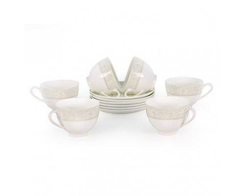 Набор чайных пар Дионис Акку на 6 персон 12 предметов 250 мл