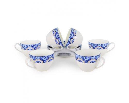 Набор чайных пар Андреа Акку на 6 персон 12 предметов 250 мл