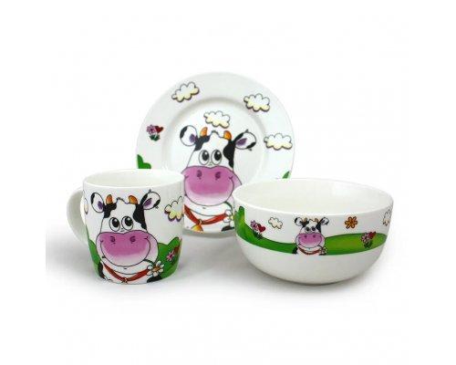 Детский набор посуды Коровка Акку New Bone China