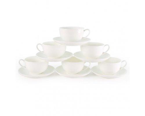 Набор чайных пар Розалия на 6 персон