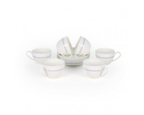 Набор чайных пар Кларисса Акку на 6 персон 12 предметов 250 мл